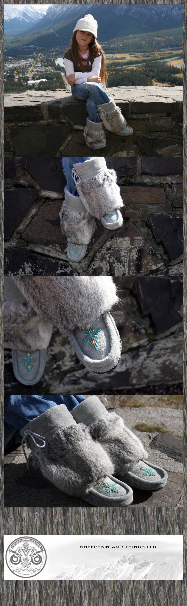 kids mukluks grey children mukluks