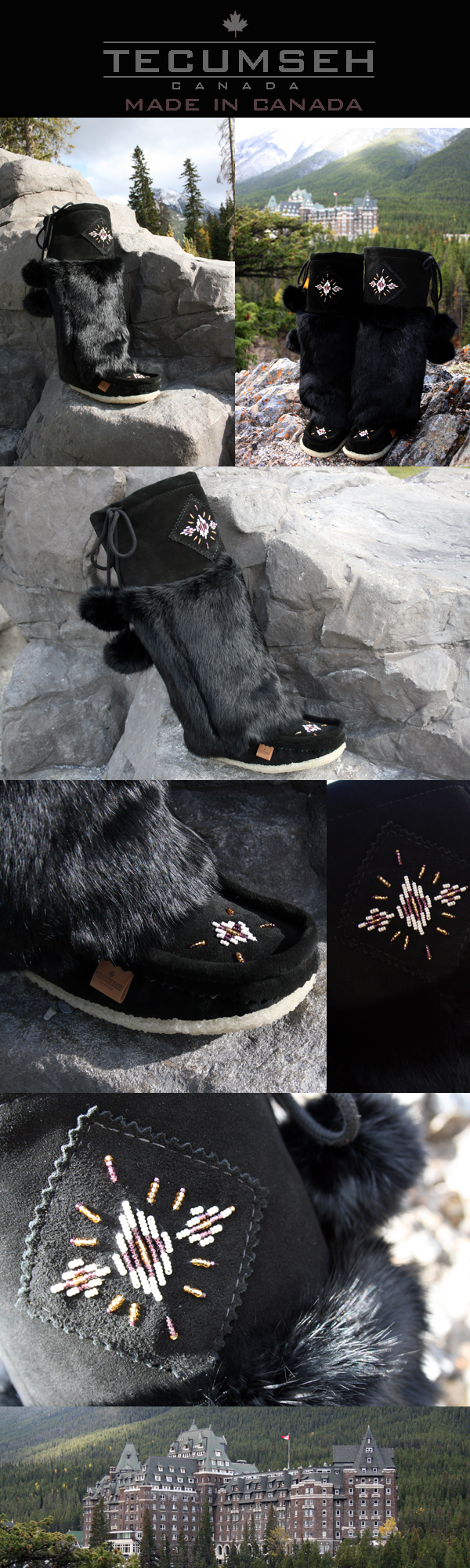 Women's mukluks black raven by Tecumseh