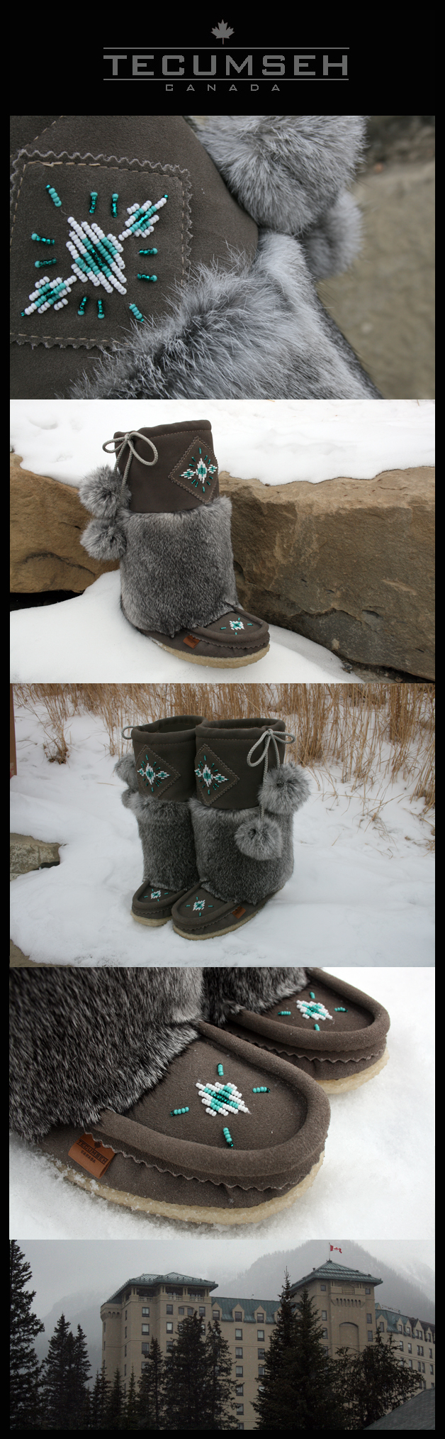 The Rimrock Short Mukluks Gray