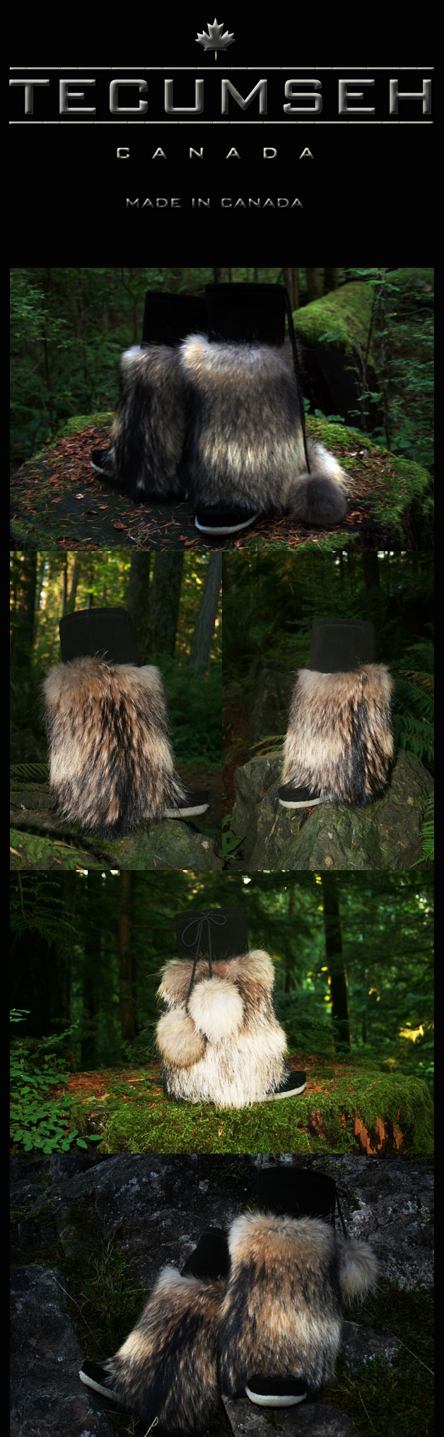 Luxurious Raccoon Fur Mukluks